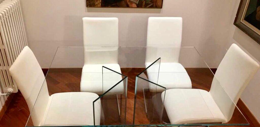Tavolo in vetro Martuzzi